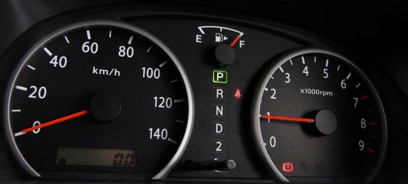 車の給油口の位置を表すマーク