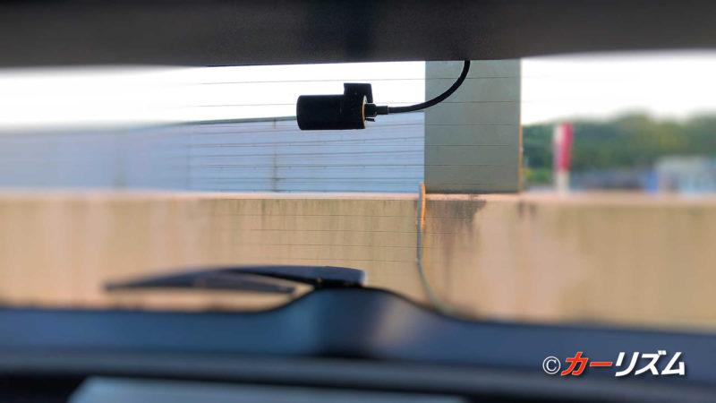 ユピテルのドライブレコーダー「DRY-TW9100d」のリアカメラ取付