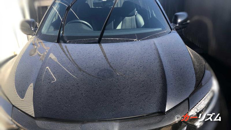 高圧洗浄機で水洗いする前の車の汚れ具合