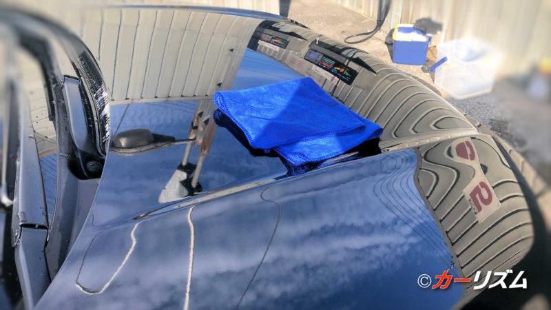 マイクロファイバーなので、絞りやすく、使用後の乾きは早い